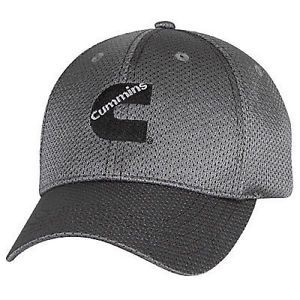 GRAY FITTED CUMMINS HAT